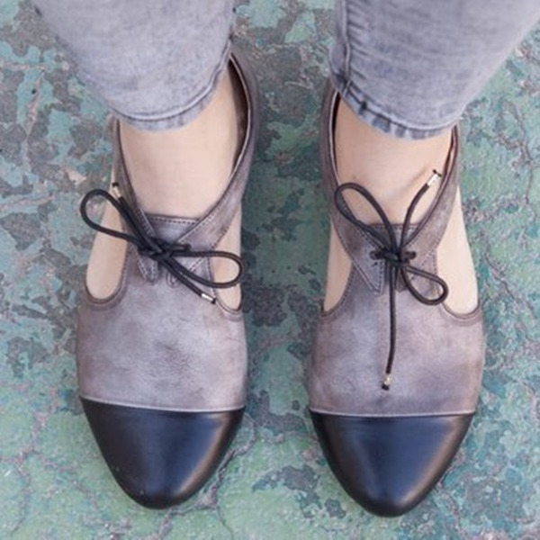 Donna PU Tacco basso Ballerine con Altrui scarpe