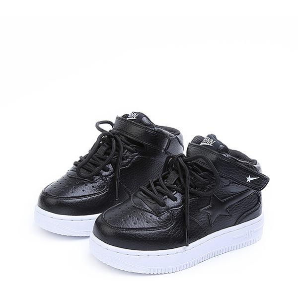 Unisexe Bout fermé similicuir talon plat Sneaker & Athletic avec Velcro Dentelle