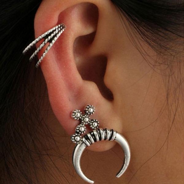 Schickes Legierung Frauen Art-Ohrringe (3-er Set)