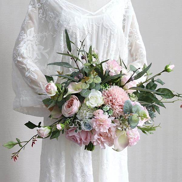 Desabrochar Forma livre Pano Buquês de noiva -