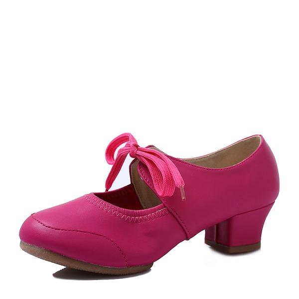 Dla kobiet Skóra z mikrofibry Tenisówki buty do butów Z Sznurowanie Buty do Tańca