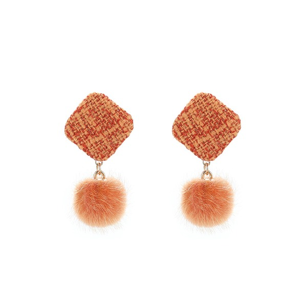 Fashionable Alloy Cloth Women's Fashion Earrings (Sold in a single piece)