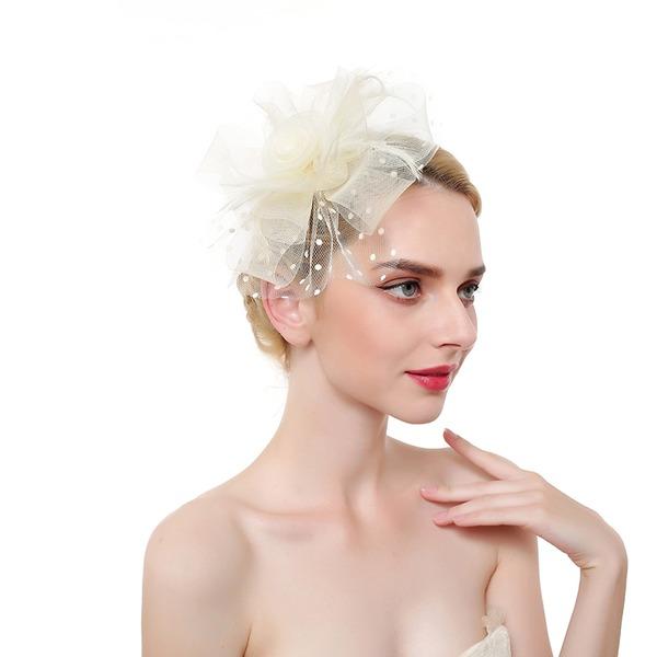 Damen Elegant/Ins Auge Fallend/Anhänger Feder/Net Garn mit Feder Kopfschmuck