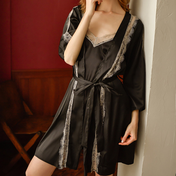 Satén Estilo clásico Nupcial/Femenino Ropa de dormir/Pijama conjunto