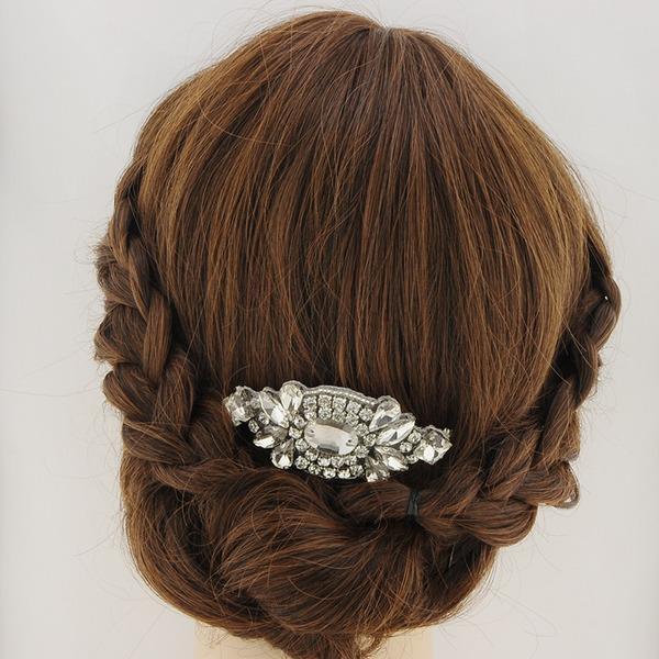 Damen Glamourös Satin Kämme und Haarspangen mit Strass (In Einem Stück Verkauft)