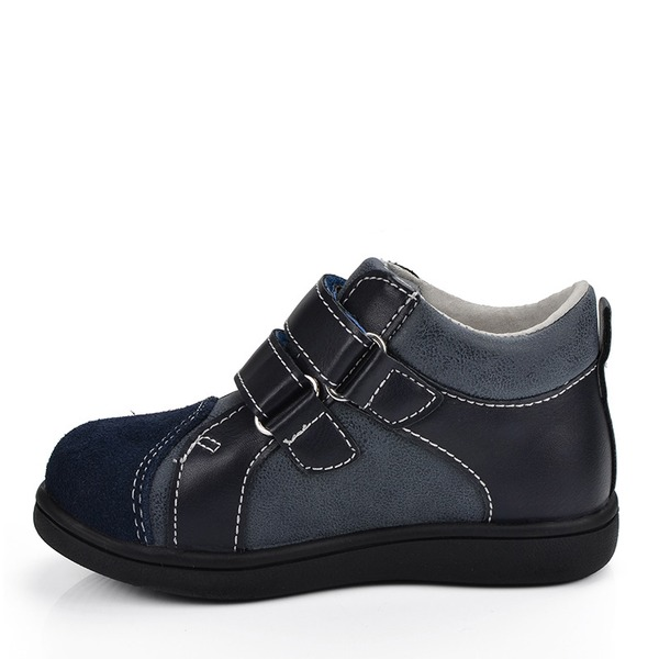 Misto finta pelle Heel piatto Punta rotonda Sneakers Scarpe da Ginnastica & Atletica con Velcro