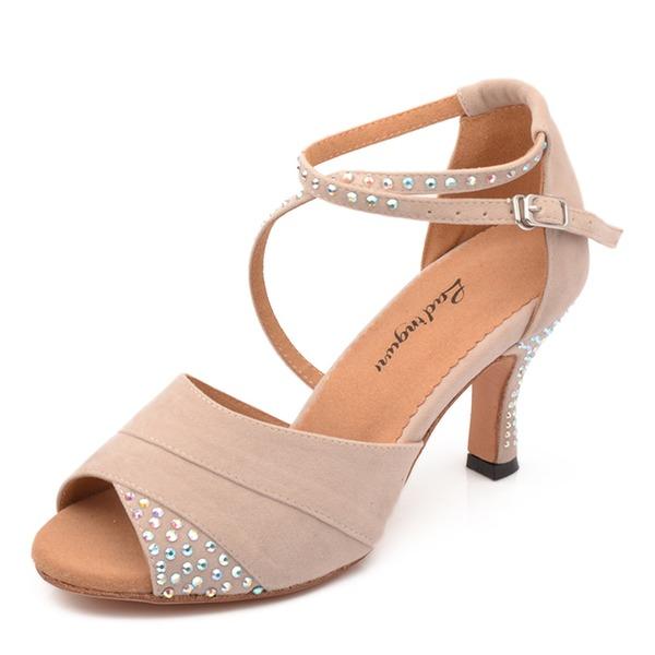 Mulheres Camurça Saltos Latino Sapatos de dança