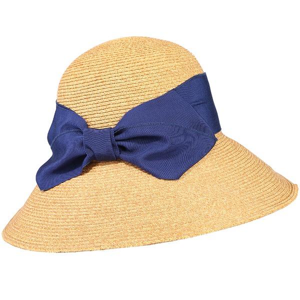 Damene ' Enkel/Fin/Jobb Polyester med Bowknot Strand / Sol Hatter