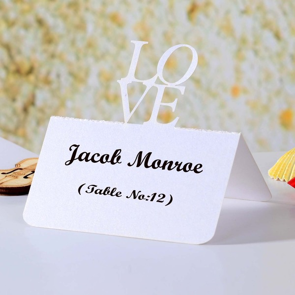 Love Design Pearl Paper Place Cards (set of 12)
