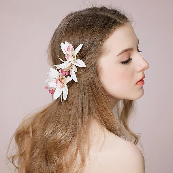 Damen Elegant Seide Blumen Haarnadeln