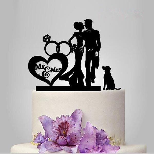 Corazones Dobles Acrílico Decoración de tortas