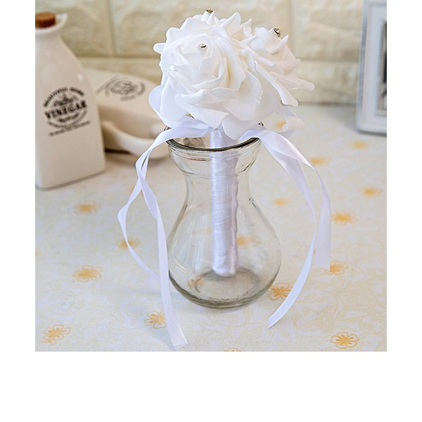Simple And Elegant Round PE Bridal Bouquets/Bridesmaid Bouquets (Sold in a single piece) -