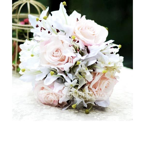 Бабочка Дизайн Свободной формы Атлас Свадебные букеты -