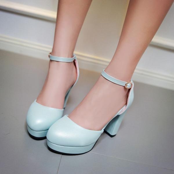 Donna Similpelle Tacco spesso Stiletto Piattaforma scarpe