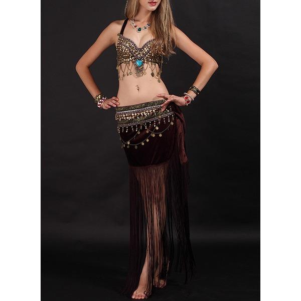 Kadın Dans Kıyafetleri Kadife Göbek Dansı Kıyafetler