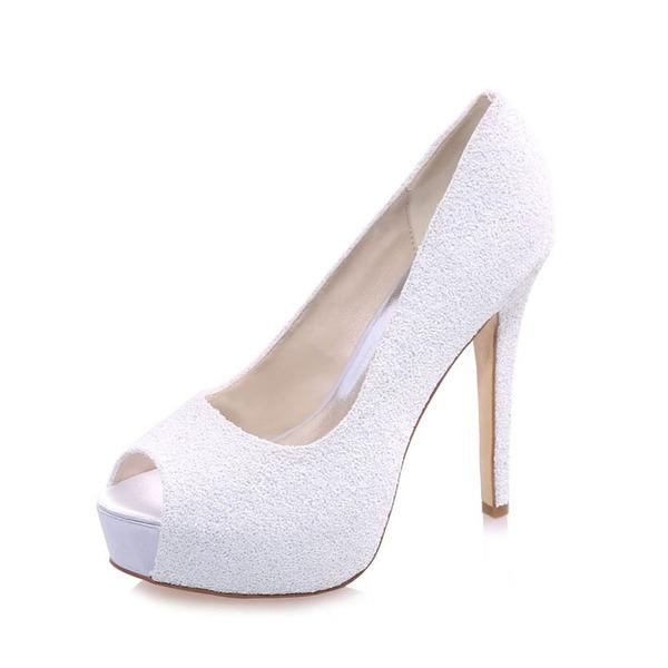 Kvinder Kunstlæder Stiletto Hæl Kigge Tå sandaler