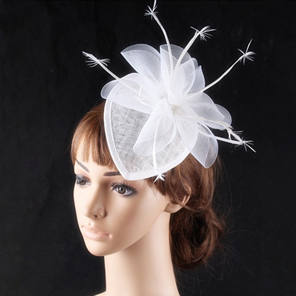 Bayanlar Şık Patiska/Net İplik Fascinators