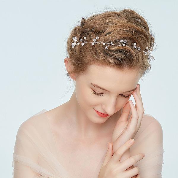 Damer Elegant Legering Pannband med Strass/Venetianska Pärla (Säljs i ett enda stycke)
