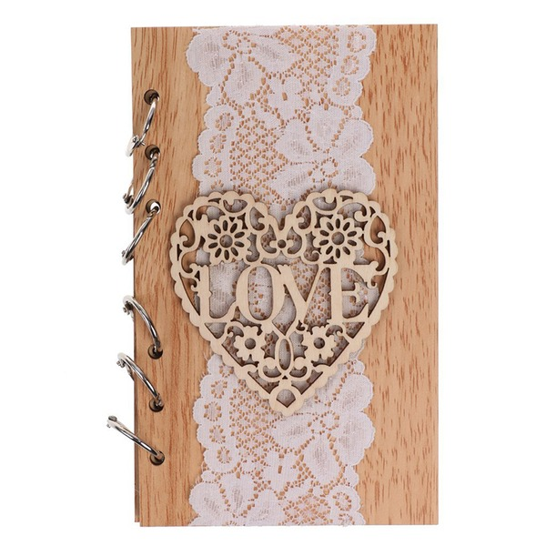 Wooden wedding cutout love notebook (Sold in a single piece)