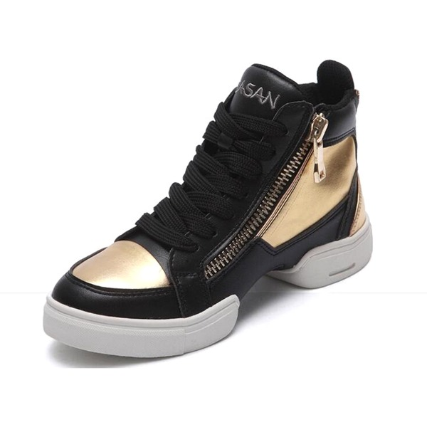 Men's Leatherette Sneakers Practice Dance Shoes