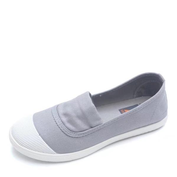 Frauen Leinwand Flascher Absatz Flache Schuhe Geschlossene Zehe Schuhe