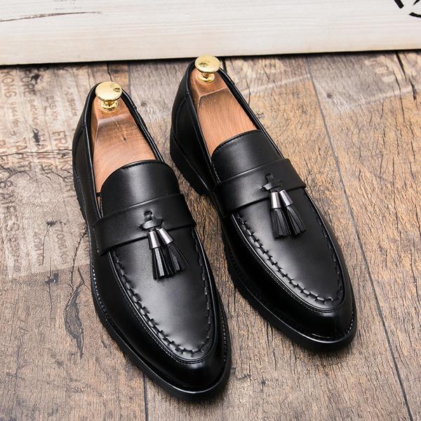 Herren Kunstleder Quasten-Loafer Lässige kleidung Herren-Halbschuhe