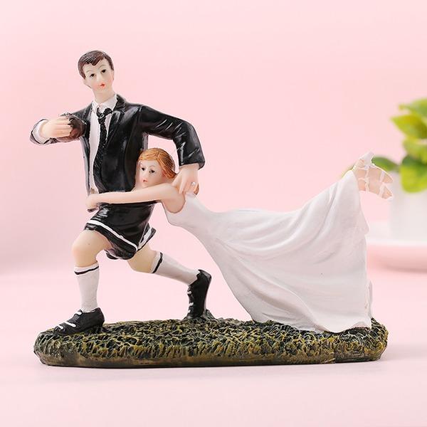 Sports Par/Brud och brudgummen Resin Tårtdekoration (Säljs i ett enda stycke)