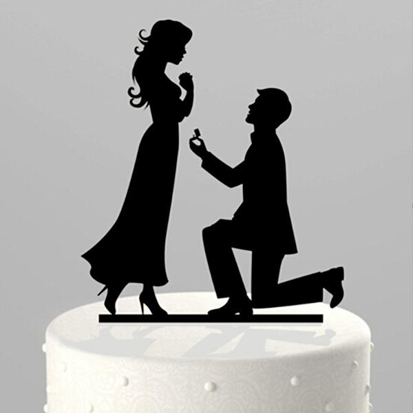 """Figurilla """"Casará Mí"""" Acrílico Boda Decoración de tortas"""