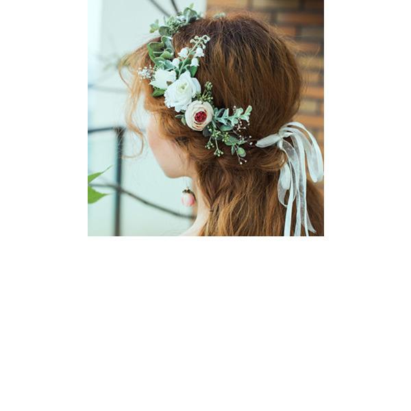 Klassische Art Rund Künstliche Blumen Kopfschmuck-Blumen (Sold in a single piece) - Kopfschmuck-Blumen