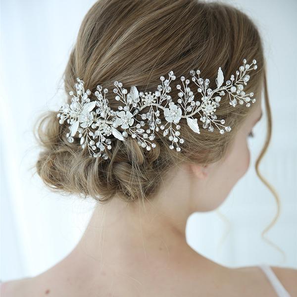 Style Classique Alliage épingles à cheveux avec Strass/Perle Vénitienne/Cristal (Vendu dans une seule pièce)