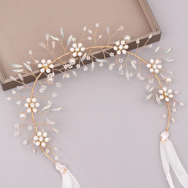 Filles Romantique Strass/Alliage/Perles Bandeaux (Vendu dans une seule pièce)