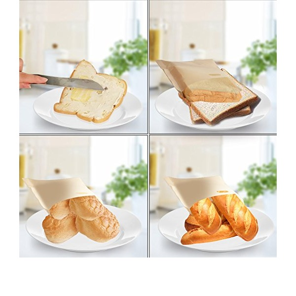 Personalized Treats Non Stick Reusable Toaster Bags for Sandwich and GrillingTreats Non Stick Reusable Toaster Bags for Sandwich and Grilling (Set of 2)