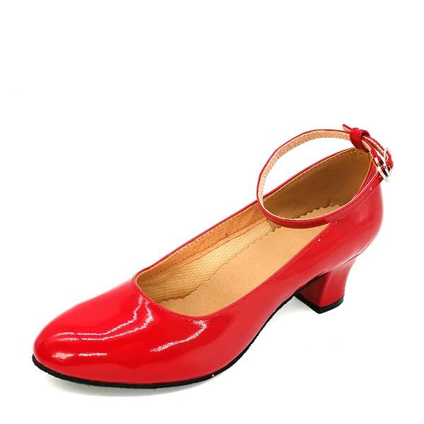 Mulheres Couro Saltos Salão de Baile Treino Sapatos de dança