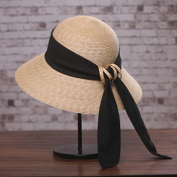 Dames Elegant/Uniek Raffia Stro met strik/Vlas Strohoed