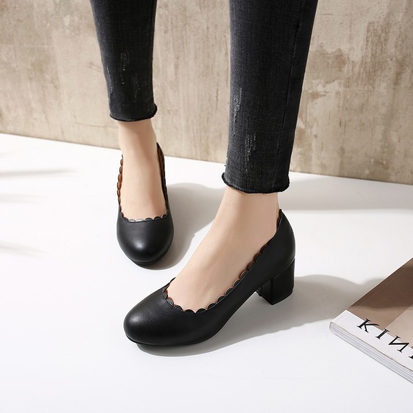Donna PU Tacco spesso Stiletto Punta chiusa con Altrui scarpe