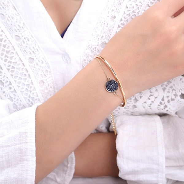 Stijlvol Legering Kristal met Imitatie Kristal Fashion Armbanden (Verkocht in één stuk)