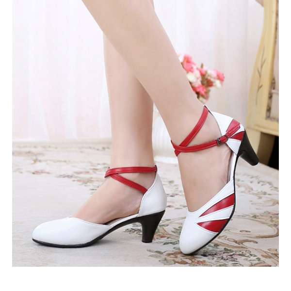 Women's Real Leather Stiletto Heel Pumps With Buckle shoes