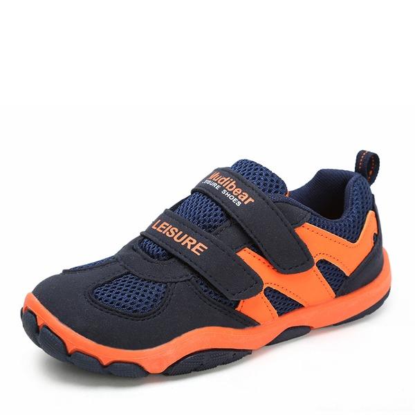 Unisexe Mesh talon plat Bout fermé chaussure de tennis Sneaker & Athletic avec Velcro