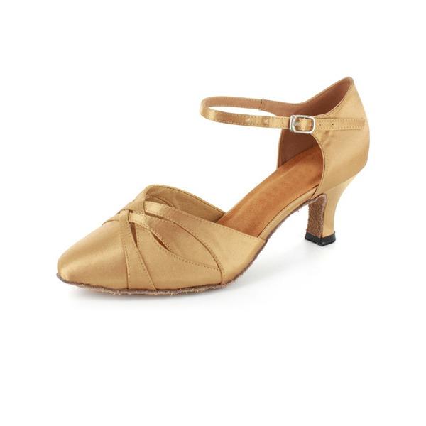 Femmes Satiné Talons Salle de bal avec Lanière de cheville Chaussures de danse