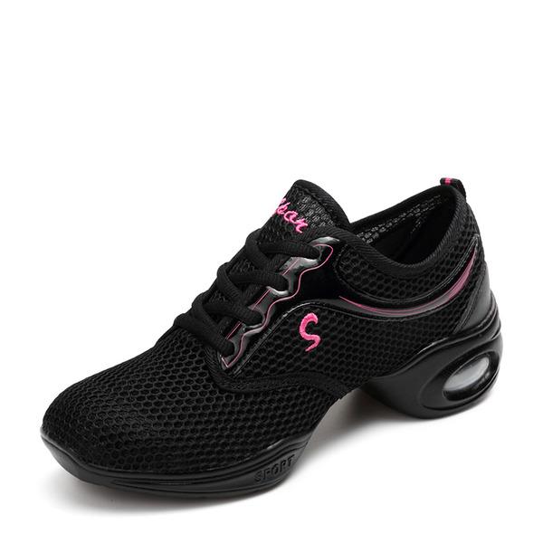 De mujer Malla Zapatillas Zapatillas con Cordones Zapatos de danza