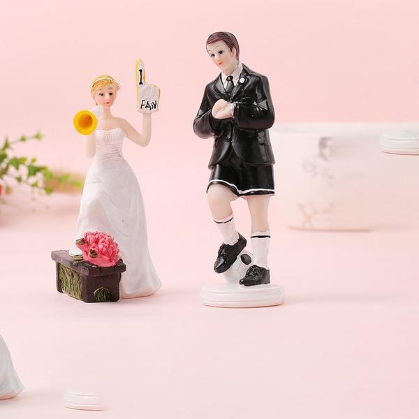 Sports Par/Mr & Mrs Resin Tårtdekoration (Säljs i ett enda stycke)