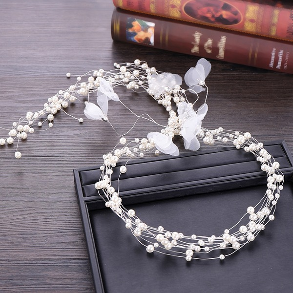 Señoras Elegante Rhinestone/Aleación/La perla de faux Diademas con Rhinestone/Perla Veneciano (Se venden en una sola pieza)