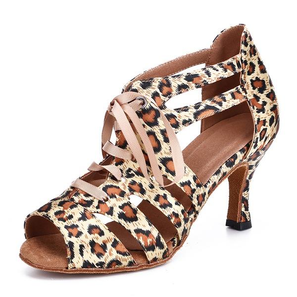 Women's Satin Heels Swing Dance Shoes
