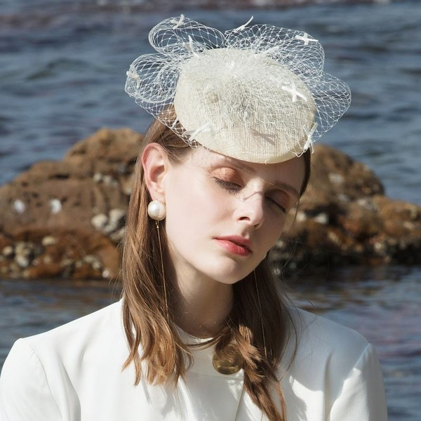 Ladies' Glamourous/Simple/Eye-catching Cambric With Tulle Fascinators