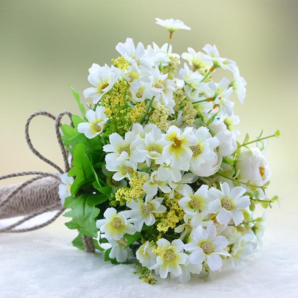 прекрасный Круглый ЧП/Шелковые белье Невесты Букеты