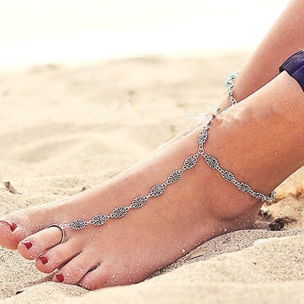 Women's Peep Toe With Crystal Chain