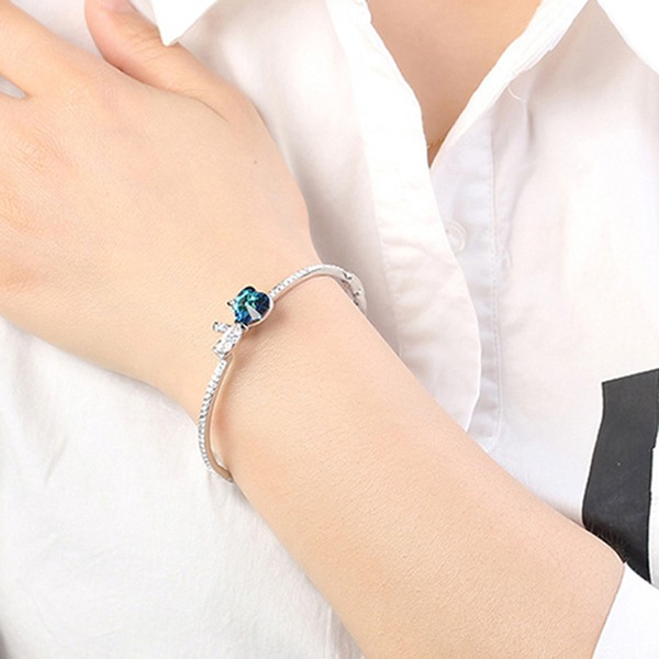 Boogvormige Legering Kristal met Imitatie Kristal Fashion Armbanden (Verkocht in één stuk)