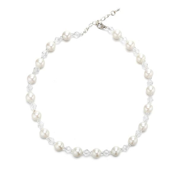 Exquis De faux pearl Cristal avec Perle d'imitation Imitation cristal Femmes Collier de mode (Vendu dans une seule pièce)