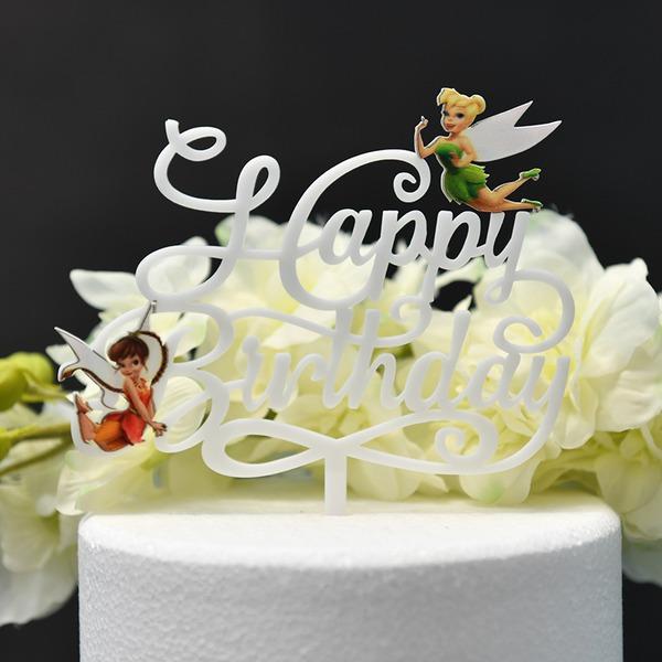 Ce est une fille/ce est un garçon/Joyeux anniversaire Acrylique Décoration pour gâteaux (Vendu dans une seule pièce)