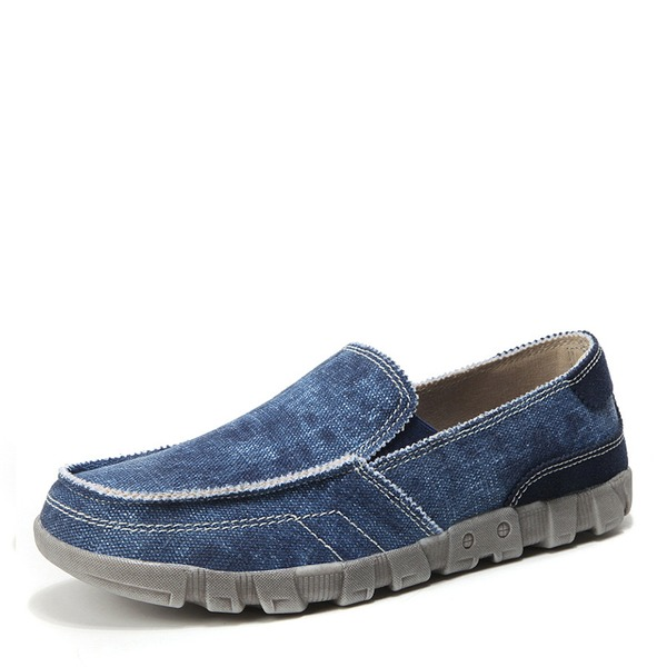 Men's Canvas Penny Loafer Casual Men's Loafers